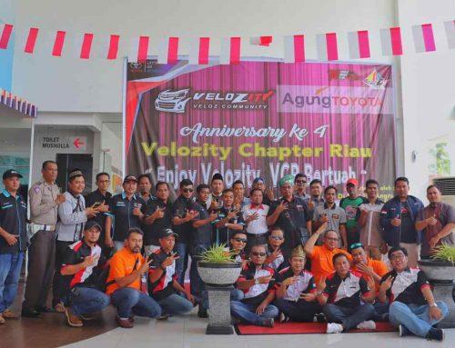 Velozity Chapter Riau (VCR) Rayakan Ulang Tahun Ke-4 Bersama Komunitas/Club Se-Dumai
